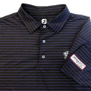FootJoy Titleist Black Striped Polo Golf Shirt 2XL